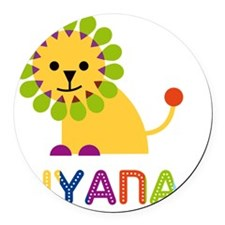 Aiyana-the-lion Round Car Magnet