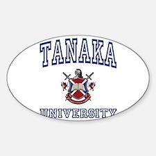TANAKA University Oval Decal