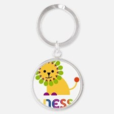 Janessa-the-lion Round Keychain