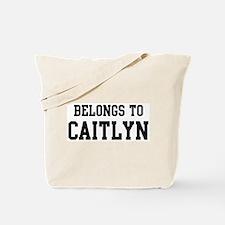 Belongs to Caitlyn Tote Bag