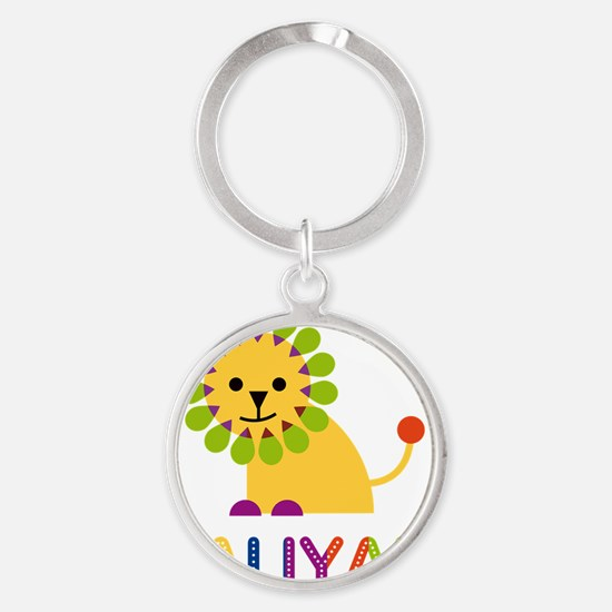 Kaliyah-the-lion Round Keychain