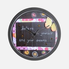 BelieveinYourselfDreams Wall Clock
