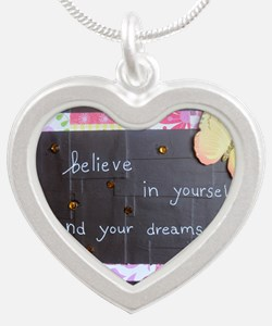 BelieveinYourselfDreams Silver Heart Necklace