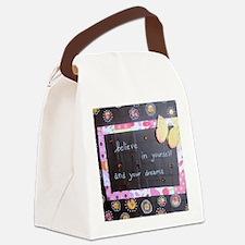 BelieveinYourselfDreams Canvas Lunch Bag