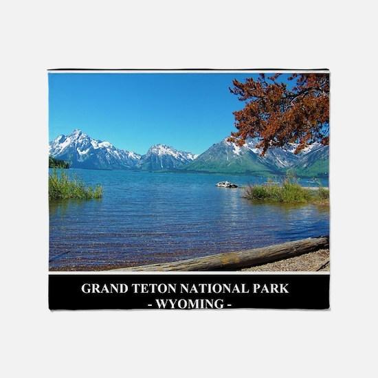 Grand Teton National Park Throw Blanket