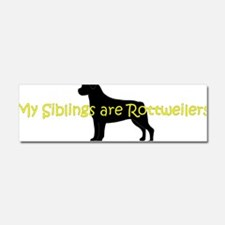 RottieSibs Car Magnet 10 x 3