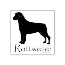 """RottweilerWord Square Sticker 3"""" x 3"""""""