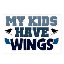 My kids have wings Postcards (Package of 8)