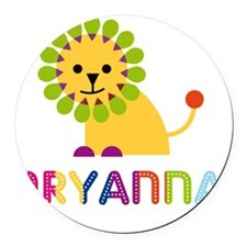 Aryanna-the-lion Round Car Magnet
