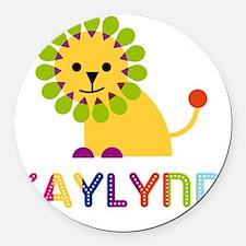 Kaylynn-the-lion Round Car Magnet