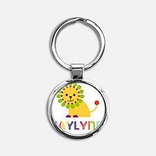 Kaylynn-the-lion Round Keychain