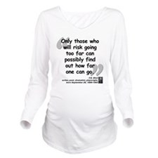 Eliot Risk Quote Long Sleeve Maternity T-Shirt