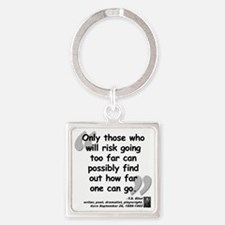 Eliot Risk Quote Square Keychain