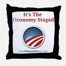 Its The Oconomy Stupid 1 Throw Pillow