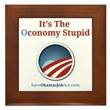 Its The Oconomy Stupid 1 Framed Tile