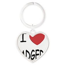 BADGERS Heart Keychain