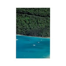 Magens Bay. Aerial view of bay an Rectangle Magnet