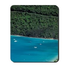 Magens Bay. Aerial view of bay and beach Mousepad