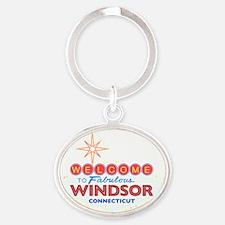 WINDSOR Oval Keychain