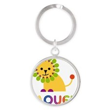 Raquel-the-lion Round Keychain