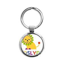 Joslyn-the-lion Round Keychain