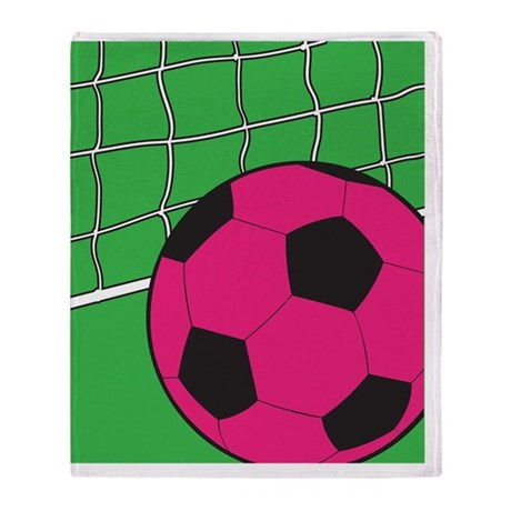 soccer-pink-flips Throw Blanket