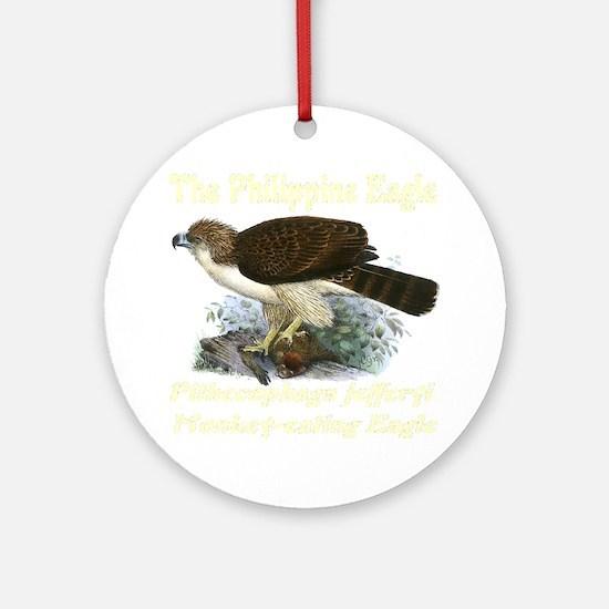 philippine_eag;e_ivoryfont_transpar Round Ornament