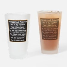 Homeschool Answers Drinking Glass