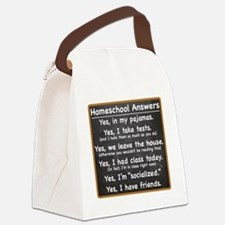 Homeschool Answers Canvas Lunch Bag