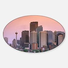 The skyline of Calgary, Alberta, Ca Sticker (Oval)