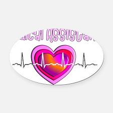 Medical Assistant QRS Oval Car Magnet
