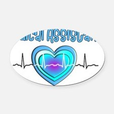 Medical Assistant QRS Blue Oval Car Magnet