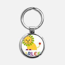 Karlee-the-lion Round Keychain
