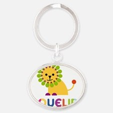 Jaqueline-the-lion Oval Keychain