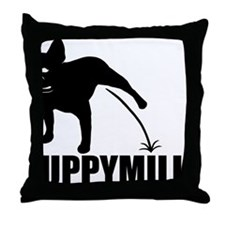 Puppymill_Frenchie_light Throw Pillow