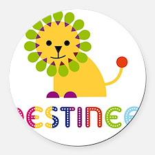 Destinee-the-lion Round Car Magnet
