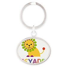 Cheyanne-the-lion Oval Keychain