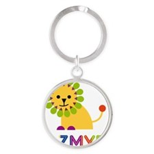Jazmyn-the-lion Round Keychain