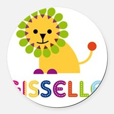 Gisselle-the-lion Round Car Magnet