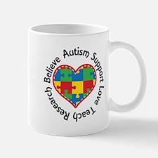 Autism Spectrum Puzzle Heart Mugs
