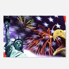 Patriotism in the USA: Ea Postcards (Package of 8)