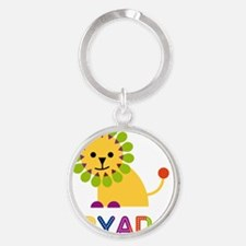 Aryana-the-lion Round Keychain