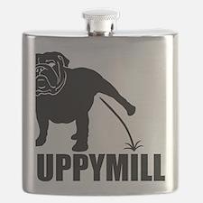Puppymill_Bulldog_light Flask