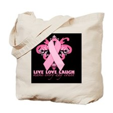 PinkRibHLLLTyBMp Tote Bag