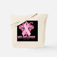 PinkRibHLLLBcap Tote Bag