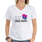 My Other Life Bi Women's V-Neck T-Shirt
