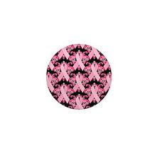 PinkribbonLLLpBsq Mini Button