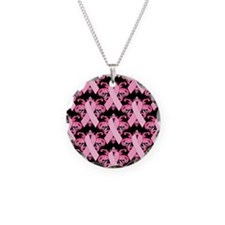 PinkribbonLLLpBsq Necklace Circle Charm