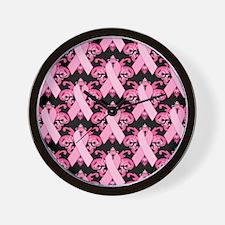 PinkribbonLLLpBsq Wall Clock