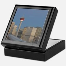 Calgary: City Skyline from Ramsay Are Keepsake Box